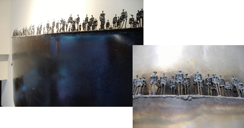 Agnese Udinotti: Steel Sculpture Painting